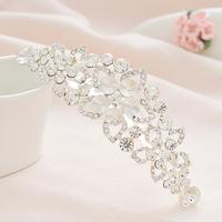 2013 New Free Shipping 2pcs/lot Fashion Princess Crystal Tiara Wedding Rhinestone Crown Wholesale Bridal Hair Accessories