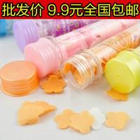 Wholesale 100pcs/ Lot 6113 portable test tube soap flower soap tablet paper soap travel  Free shipping