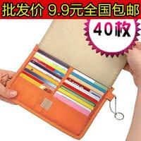 Wholesale 100pcs/ Lot Multifunctional 5004 40 card case card holder card storage bag storage  Free shipping