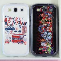 Western Fashion Graffiti Case Cover For Samsung Galaxy SIII S3 I9300 Free Shipping 1pcs