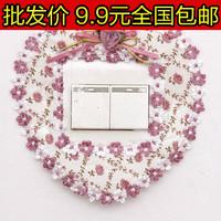 Wholesale 100pcs/ Lot 5368 rustic fashion square cloth bear lace switch sets  Free shipping