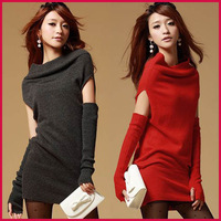 2013 Fashion Pullover Women Sweater With Glovers Knitwear Free Shipping SWT001