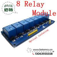 10PCS 8 Channel 5V relay isolation control  Relay Module Shield 250V/10A  for  MCU AVR 51 PIC