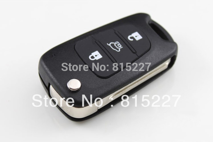 2014 Hot Sale Uncut Blade 3 Buttons Flip Remote Key Shell For Kia K2 K5 Car Keys Blank Case Cover + HK Post Free Shipping(China (Mainland))