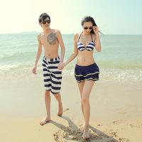 Hot spring swimwear lovers swimwear female beach bikini steel piece set push up beach pants