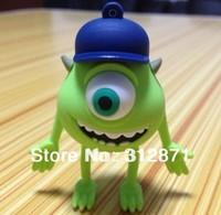 Free shipping 2GB 4GB 8GB 16GB 32GB 64GB Cartoon one eye pen drive usb flash drive Plastic Memory Stick pendrive Bulk