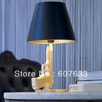 NEW Modern Design Golden GUN Table Lamp Desk Lighting Beside Lamp Working Light