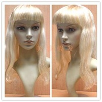 Christmas wig dayses cosplay wig multicolour qi bangs , shallow gold props