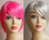 Personality wig dance party wig diy multicolour clown makeup