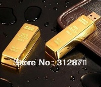 Free shipping 2GB 4GB 8GB 16GB 32GB 64GB Gold Bars USB Flash pen Drive