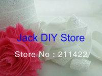 5 Yards White Glitter Elastic 5/8 Inch  for headband Hair Accessories