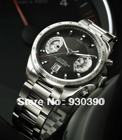 Mens stainless steel automatic watch, top brand Grand Calibre 17 rs Mens Watches, luxury mechanical wristwatch T024