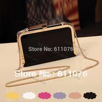 Women handbags,women shoulder bags,leather bags,Lady Chain Bag Mini female candy color Purse Clutch Wallet cross-body 17832