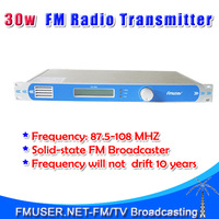 NEW! FMT-30L 30W FM Radio Broadcasting Transmitter for Community Country radio station 8km reference