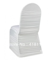100pcs/lot white spandex chair covers ruffle stretch chair cover spandex chair cover lycra chair cover