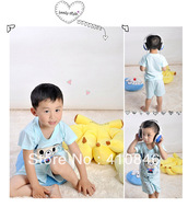 Summer Children's Clothes Cartoon Little Bear Casual two piece Set T-shirt with shorts Homewear 4 sets lot ZY1006