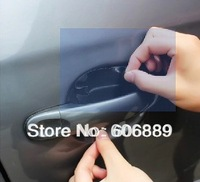 8PCS/LOT Car handle door stickers paint scratches protective auto car decoration film sticker Free shipping