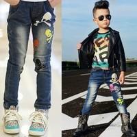 New Fashion Boy Jeans 2013 NWT Stylish Boys Jean Children Kids Fashion Casual Jeans Trousers Boutique skull pants B077