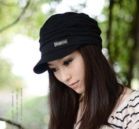 New Korean autumn and winter cotton knitted hats, fashionable men and women fold fashion caps, multi-color, free shipping