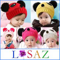 New 2013 Winter Anime Panda Kids Cap Newborn Christmas Children's Hats