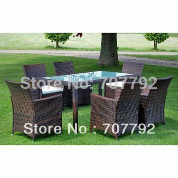 2015NEW!Outdoor furniture Rattan dinnig set(China (Mainland))