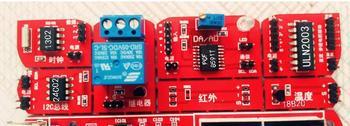 Free Shipping! 1pc AVR + ARM +51 microcontroller development board STM32 MCU development board