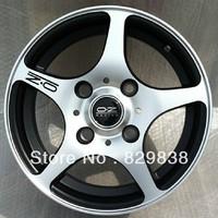 OZ modified car wheel hub auto rim 14  inch black bottom silver face  for cars