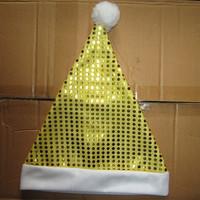 Staphyloccus paillette christmas cap christmas gift quality Christmas decoration santa claus hat  santa claus