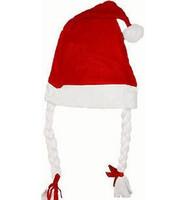 Christmas hat bianzi cap christmas hat female general cap belt braided cap christmas gift  santa claus