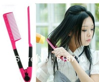 DIY Salon Folding Hair dress Hairdressing Styling Hair Straightener V Comb Tool[000120]