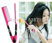 DIY Salon Folding Hair dress Hairdressing Styling Hair Straightener V Comb Tool[240904]