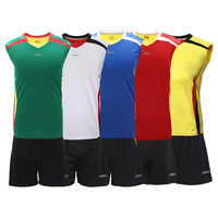 Etto men volleyball suit set volleyball sports jersey  shirt shorts clothing training suit vw3101 freeshipping
