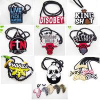 Hiphop Acrylic Necklace Fashion Pendant Hip Hop Necklace ZY083 - ZY065
