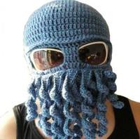 Free shipping,hot sale,2013 Fashion novelty handmade Octopus wool hat