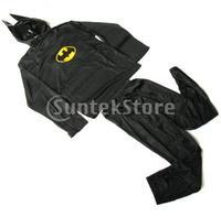 Free Shipping Bat-Man Child Detachable Halloween Costume --- 3 Piece Set Size L