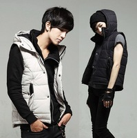 New casual slim sleeveless down jacket two sides wear men's cotton-padded Vest,size M-XXL fashion sweater