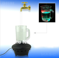 High Quality Novelty multi color water faucet lamp,Wonderful water flow LED cup light,Magic Tap running lights, retailsale