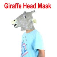 Freeshipping Animal Giraffe Head Mask Halloween Costume Party Christmas Theater Prop Latex wholesale