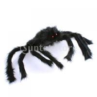 Free Shipping New 75cm Large Black Spider Plush Puppet Toy / Halloween Decor