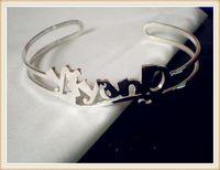 925 sterling silver custom name bangle-free shipping