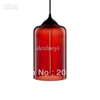 Free shipping!Hot selling Niche Modern glass pendant light by julie Solitaire dia18cm*h30cm