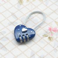 High quality ultra hard alloy tsa lock mantianxing steel wire rope anti-theft lock love padlock 50g
