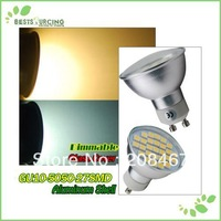 Freeshipping 5pcs/lot  GU10 27 SMD 5050 LED Day / Warm White Room Led  Light  Dimmable Led Bulb