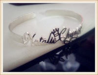 925 sterling silver carrie style name bangle-free shipping