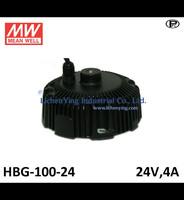 Mean Well 24V 4A LED high low bay lighting Driver spot lighting power supplies circular shape HBG-100-24 LED Power Supply