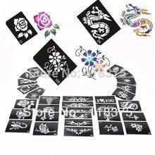 USA Dispatch 100pcs/Lot  Moon Light Tattoo Stencils For Body art Painting Mixed designs for glitter tattoo kits Supplies(China (Mainland))