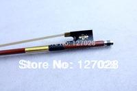 Free shipping 4/4 Gold Mounted Brazilwood Violin Bow Flower Inlay Violin Bow High Quality Pernambuco Violin Bow