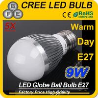 5x High brightness E27 led bulb 3*3w Cheap led light bulb  Cold white/warm white Free shipping