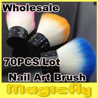 [PFL-015]Wholesae 70PCS/LOT Soft Nail Dust Brush Manicure Tool Cosmetic Brush + Free Shipping