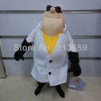 "Free Shipping Despicable Me Plush Toy Nefario 14"" Gru's Doctor Cuddly Stuffed Animal Doll Wholesale Wholesale And Retail"